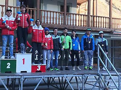 podio_Super-G_C.R. Allievi_M_Alagna_14_03_2017_1